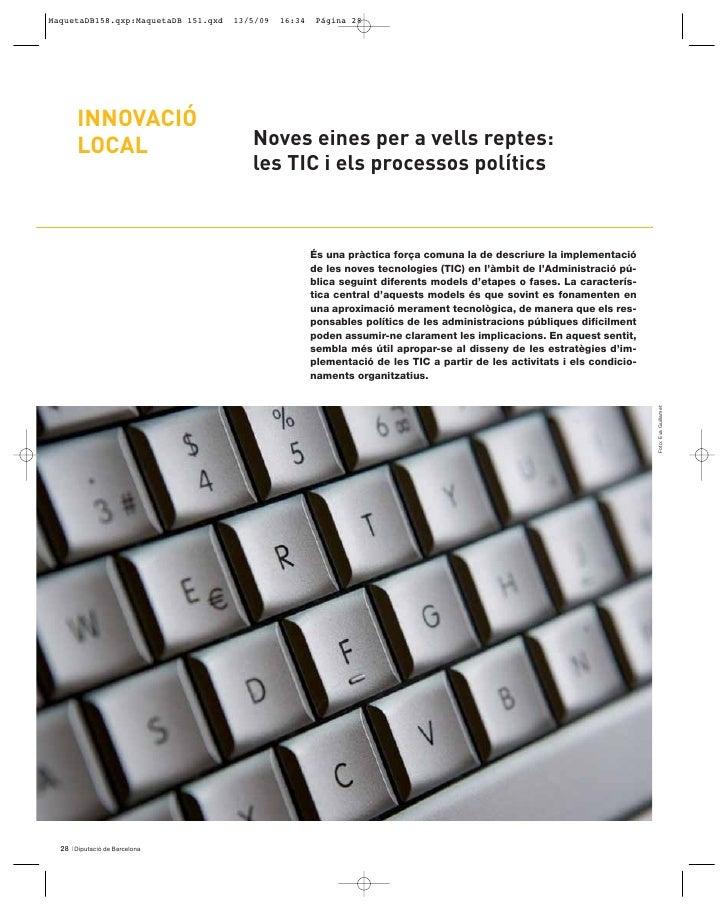 INNOVACIÓ      LOCAL                    Noves eines per a vells reptes:                               les TIC i els proces...