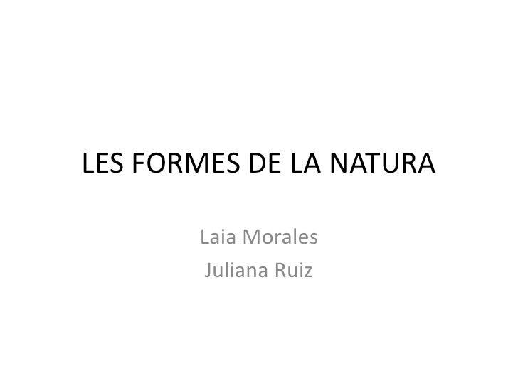 LES FORMES DE LA NATURA<br />Laia Morales<br />Juliana Ruiz<br />
