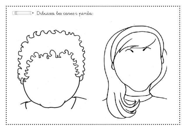 Dibuixa les cares i pinta: