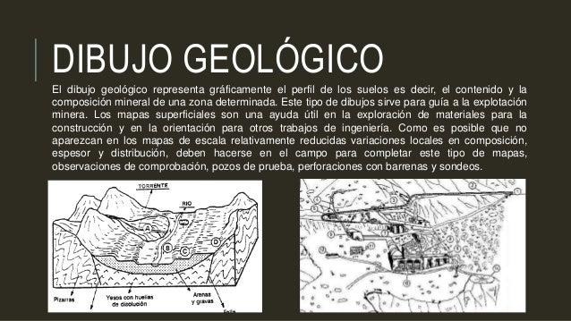 DIBUJO GEOLÓGICO El dibujo geológico representa gráficamente el perfil de los suelos es decir, el contenido y la composici...