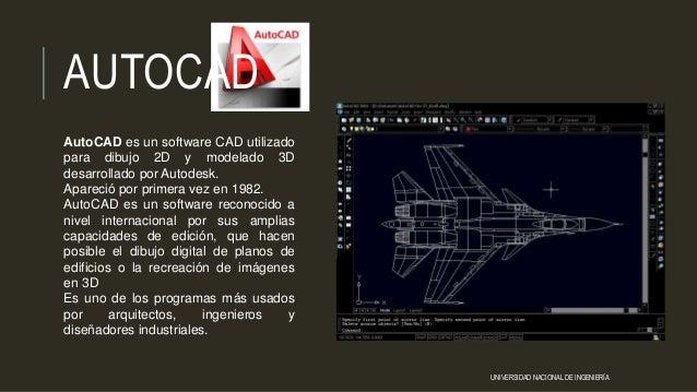 AutoCAD es un software CAD utilizado para dibujo 2D y modelado 3D desarrollado por Autodesk. Apareció por primera vez en 1...