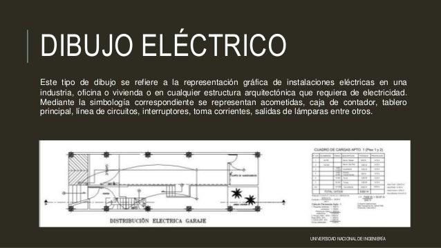 DIBUJO ELÉCTRICO Este tipo de dibujo se refiere a la representación gráfica de instalaciones eléctricas en una industria, ...