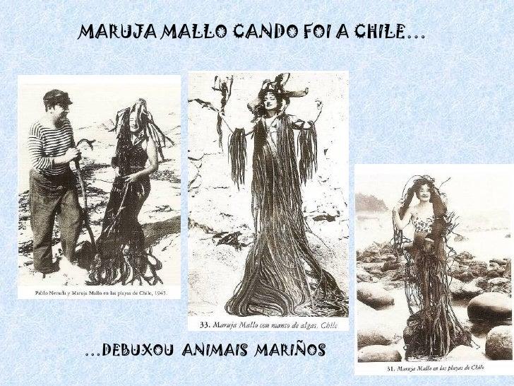 MARUJA MALLO CANDO FOI A CHILE… … DEBUXOU  ANIMAIS  MARIÑOS