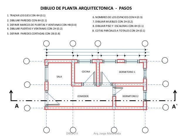 Dibujo de plantas fachadas y cortes for Como se hace un plano arquitectonico