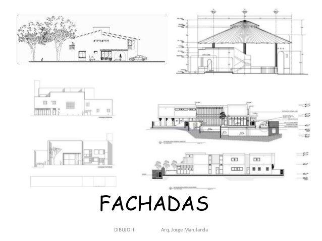 Dibujo de plantas fachadas y cortes for Dibujos de muebles para planos arquitectonicos