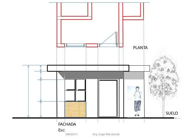 Dibujo de plantas fachadas y cortes for Plano de planta dibujo tecnico