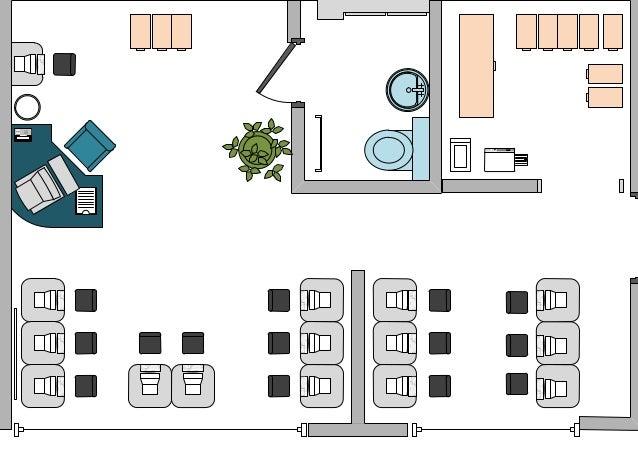 Plano oficina gca for Diseno de oficinas pequenas planos