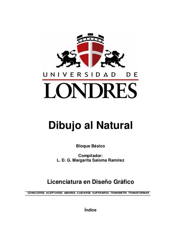 Dibujo al Natural Bloque Básico Compilador: L. D. G. Margarita Saloma Ramírez Licenciatura en Diseño Gráfico CONOCERSE ACE...