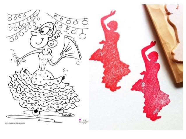 Dibujos cartel flamenco