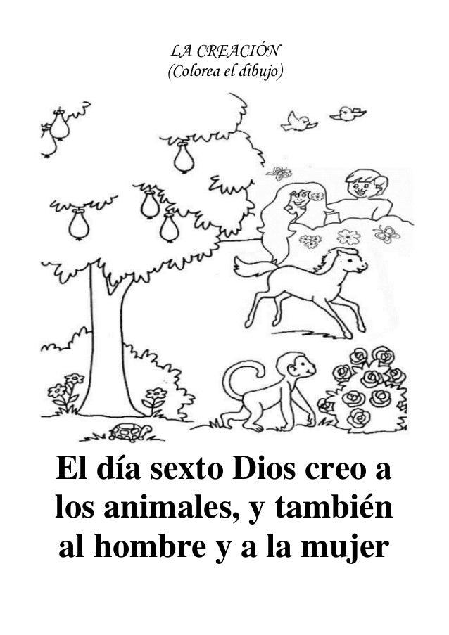 Dibujos de la creación para niños de inicial