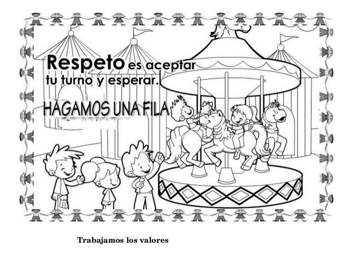 Dibujos de valores para clase de religion