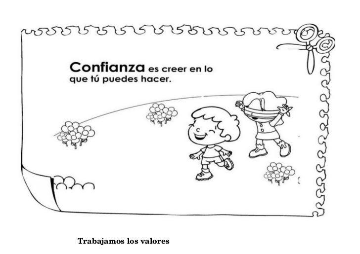 Dibujos Clase De Religion: Dibujos De Los 10 Valores Dibujos De Valores Para Clase De