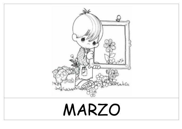 Dibujos Meses Del Año Blanco Y Negropfd