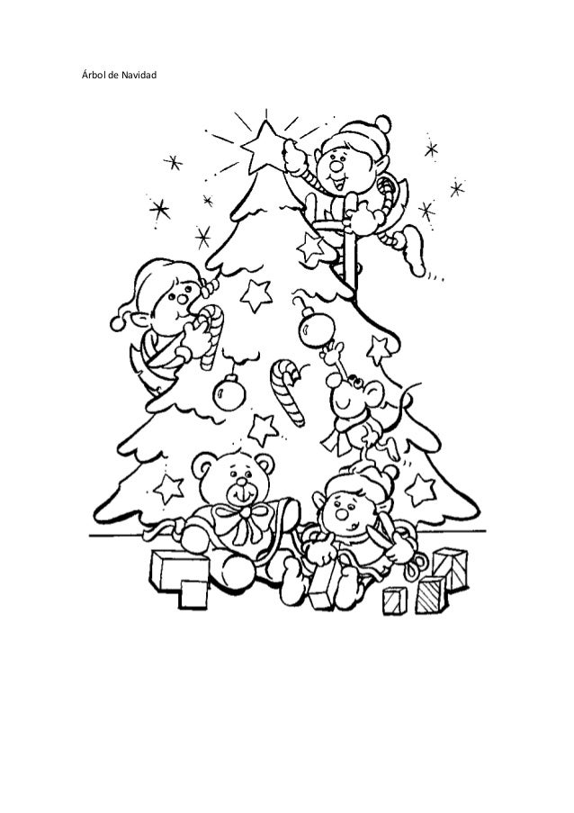 Dibujos para colorear de Navidad www.dibujosparacolorearmania.com
