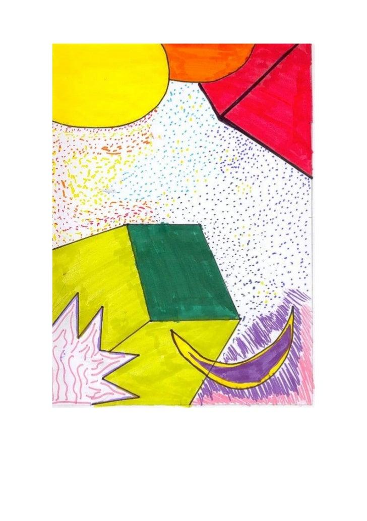Dibujos tres colores Plástica.