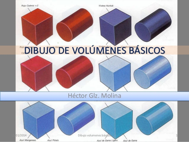 DIBUJO DE VOLÚMENES BÁSICOS  Héctor Glz. Molina  15/01/2014  Dibujo volumenes básicos  1