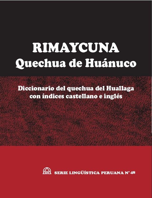 Diccionario Quechua De Huanuco