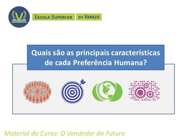 Quais são as principais características de cada Preferência Humana? Material do Curso: O Vendedor do Futuro