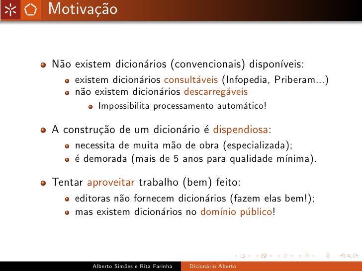 Dicionário Aberto Slide 2