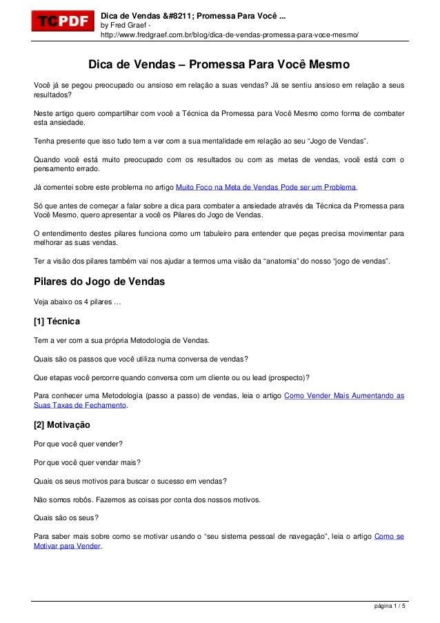 Dica de Vendas – Promessa Para Você ... by Fred Graef - http://www.fredgraef.com.br/blog/dica-de-vendas-promessa-para-voce...