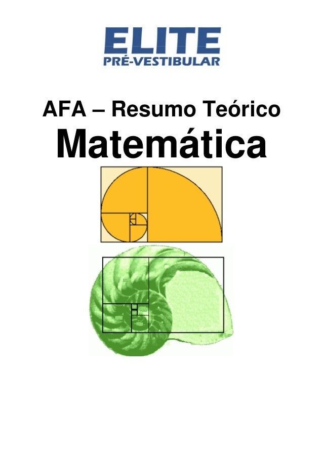 AFA – Resumo Teórico Matemática