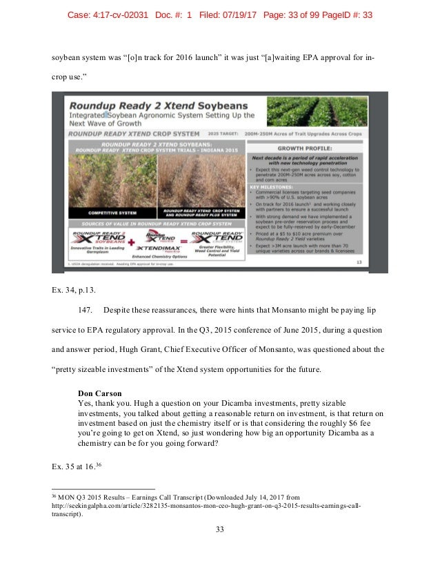 Dicamba Class Action Lawsuit