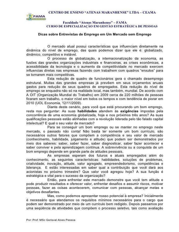 """CENTRO DE ENSINO """"ATENAS MARANHENSE"""" LTDA – CEAMA                            Faculdade """"Atenas Maranhense"""" – FAMA         ..."""
