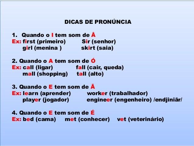 Dicas de pronúncia em inglês