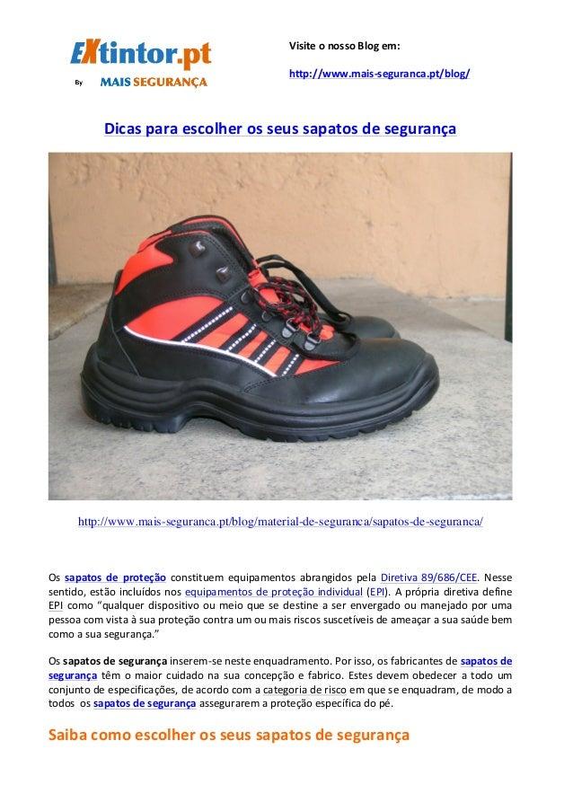Dicas  para  escolher  os  seus  sapatos  de  segurança     ...