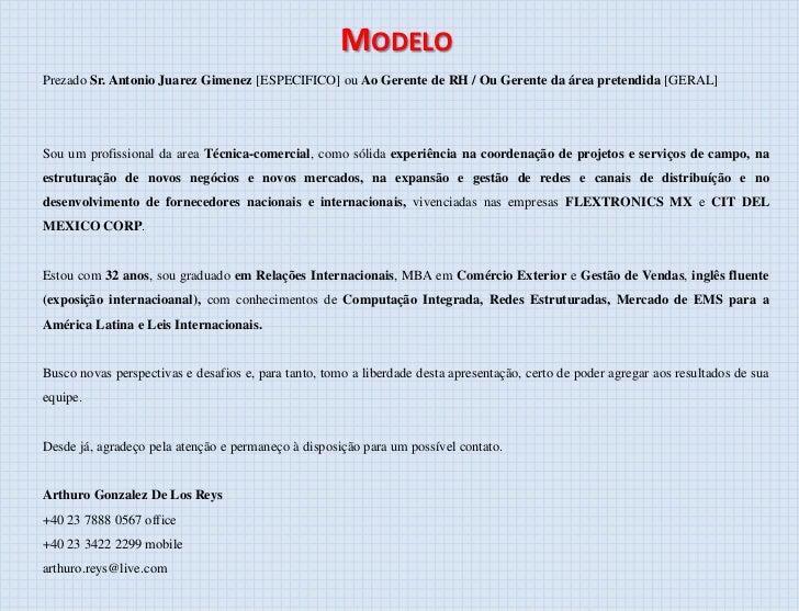 Modelo carta de apresentacao da empresa