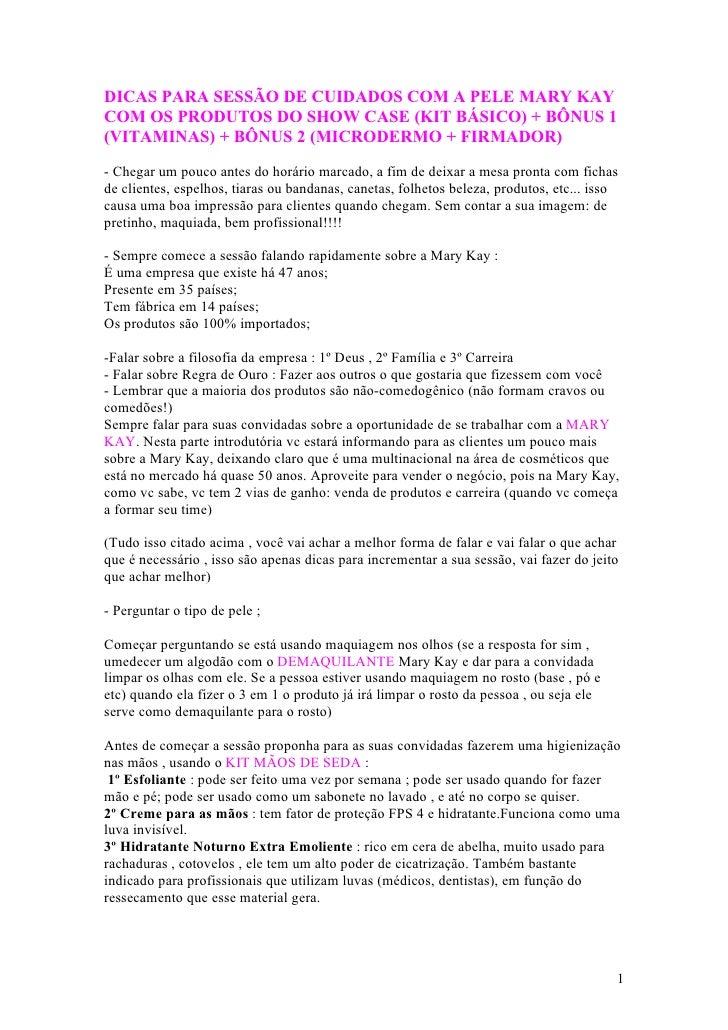 DICAS PARA SESSÃO DE CUIDADOS COM A PELE MARY KAYCOM OS PRODUTOS DO SHOW CASE (KIT BÁSICO) + BÔNUS 1(VITAMINAS) + BÔNUS 2 ...