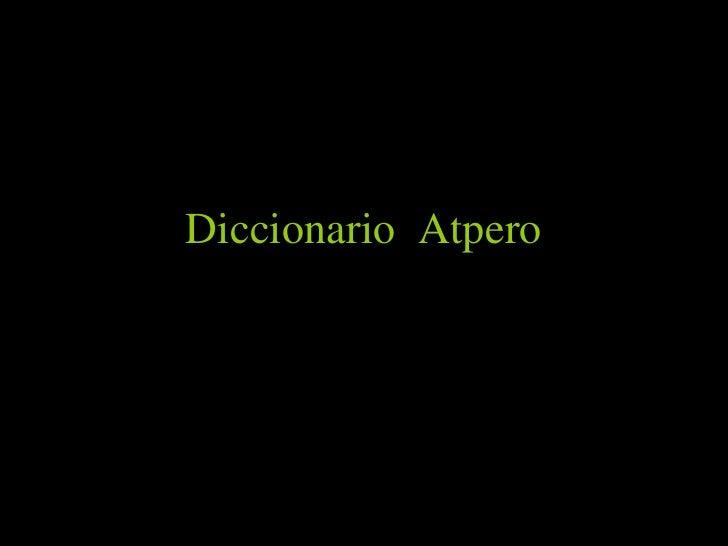 Diccionario  Atpero