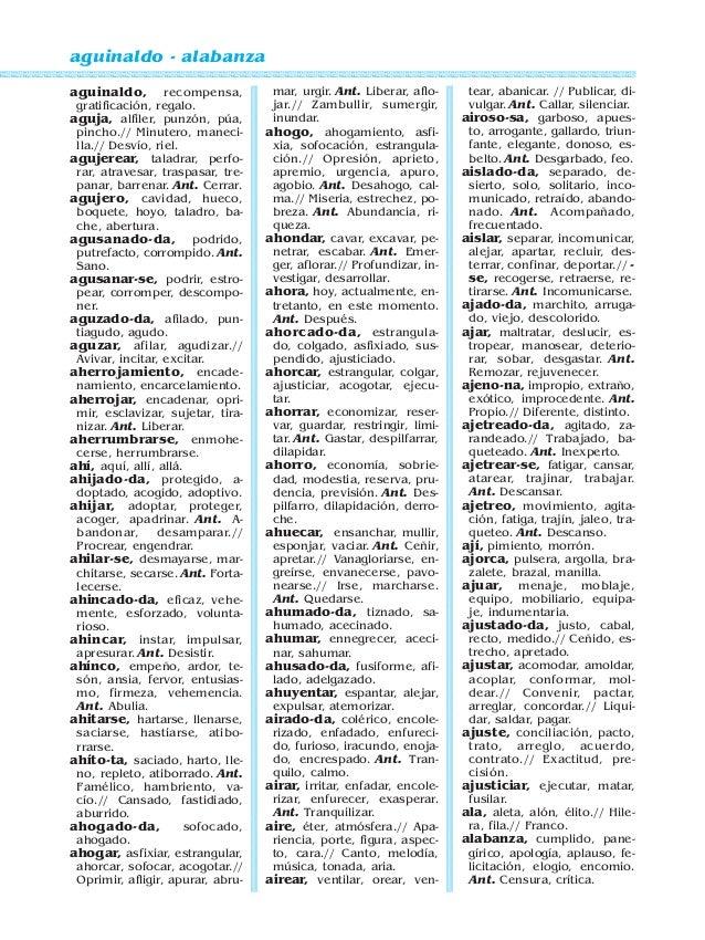 Diccionario De Sinonimos Samuel Gili Gaya