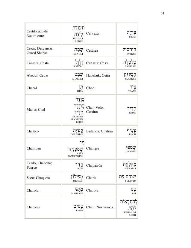 Diccionario hebreo-espa nol