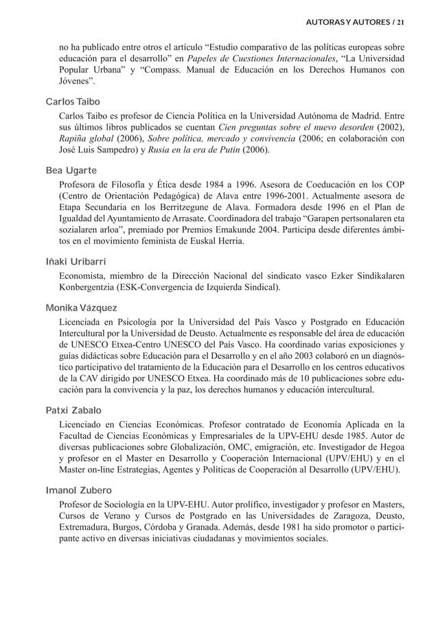 """AUTORASY AUTORES / 21 no ha publicado entre otros el artículo """"Estudio comparativo de las políticas europeas sobre educaci..."""