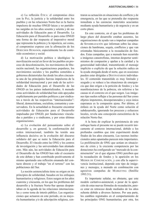 c) La reflexión ÉTICA: el compromiso ético con la PAZ, la justicia y la solidaridad entre los pueblos y en las relaciones ...