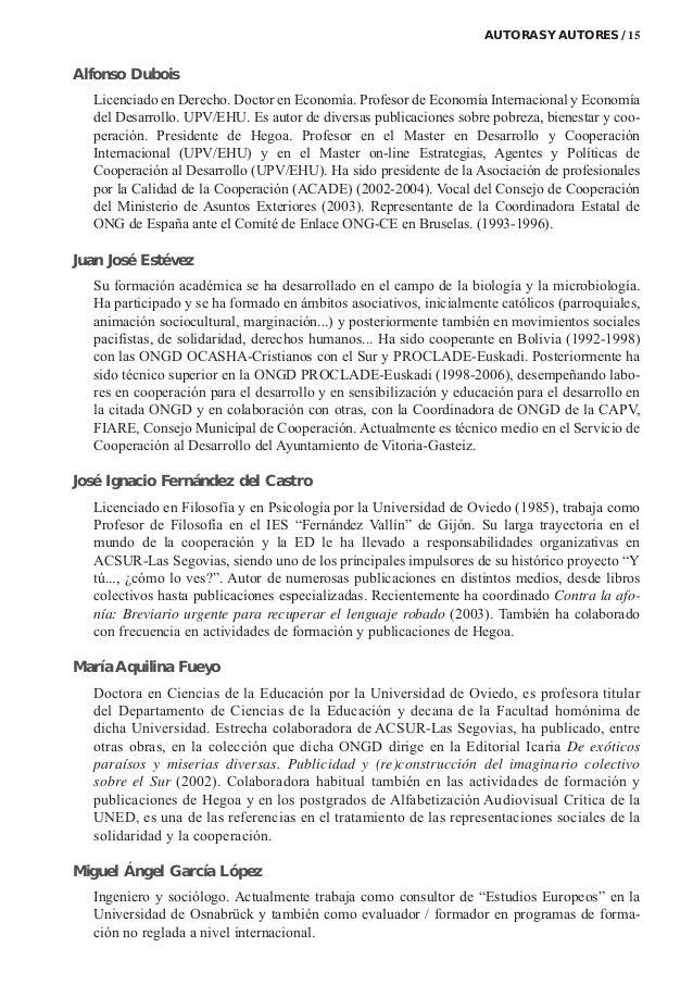 Alfonso Dubois Licenciado en Derecho. Doctor en Economía. Profesor de Economía Internacional y Economía del Desarrollo. UP...