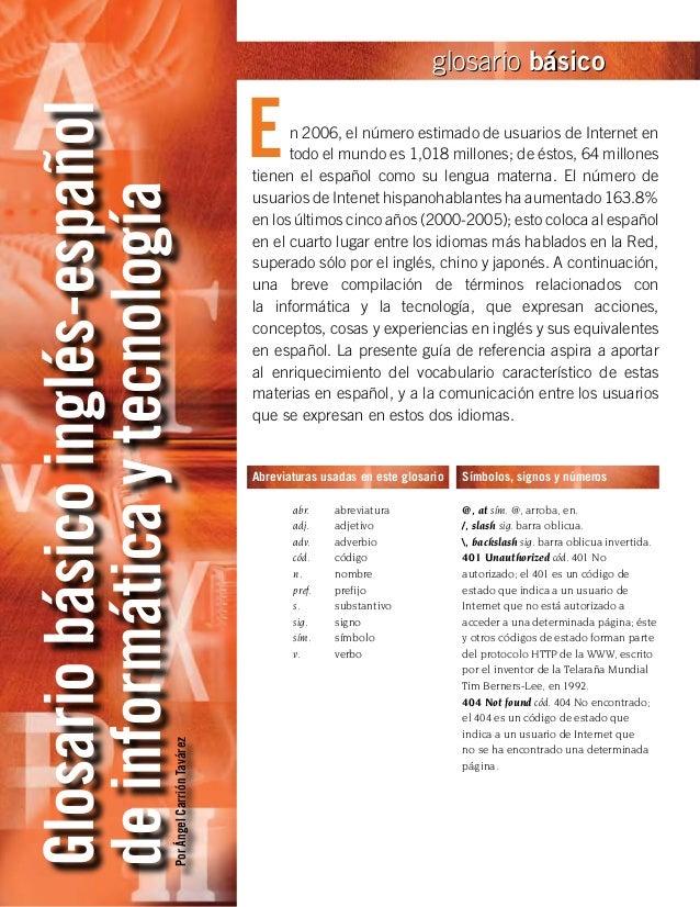 glosario básico                                                         EGlosario básico inglés-español                   ...