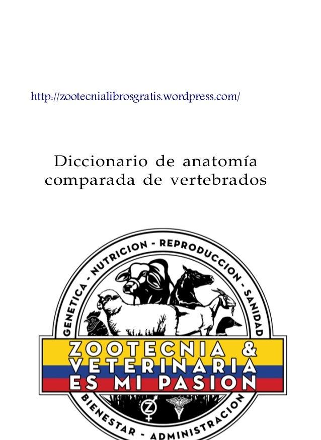 Diccionario de anatomía