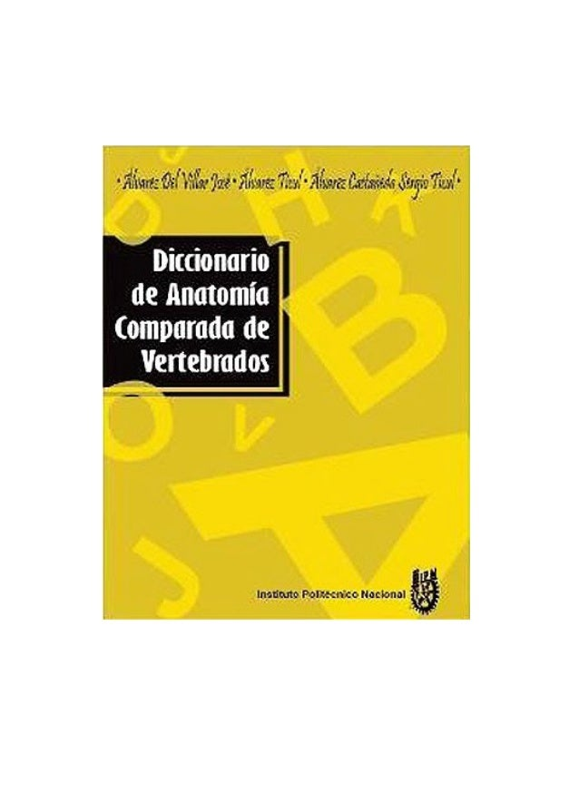 Diccionario de anatomía comparada de vertebrados