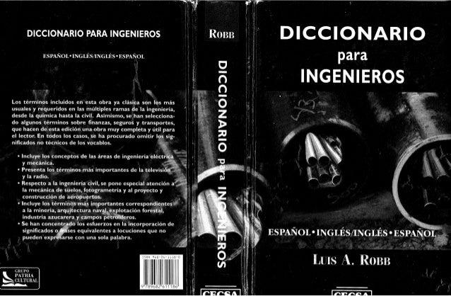 EJICICIICJPJÁÁFEICD  para     INGENIEROS  DICCIONARIO PARA INGENIEROS l' R033  ESPAÑOIHINGLÉS/ INGLÉS'ESPAÑOL     :  v:  w...