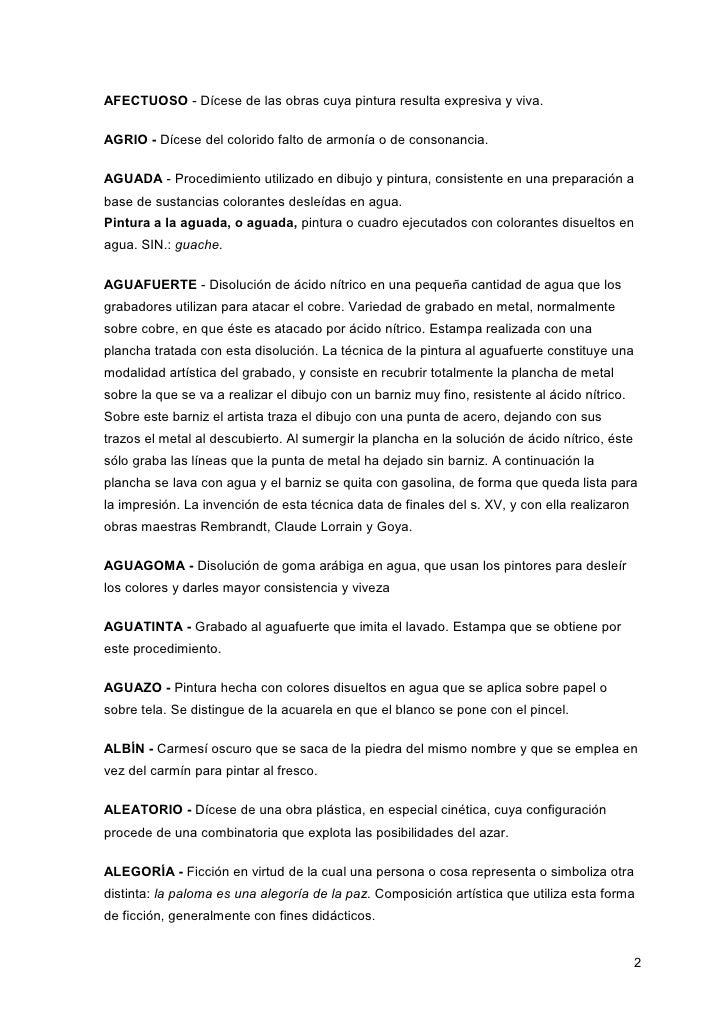 Diccionario de términos de las técnicas y materiales de las artes plá…