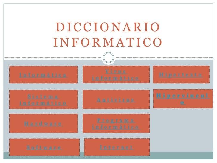 DICCIONARIO       INFORMATICO                 VirusInformática                 Hipertexto              informático  Sistem...