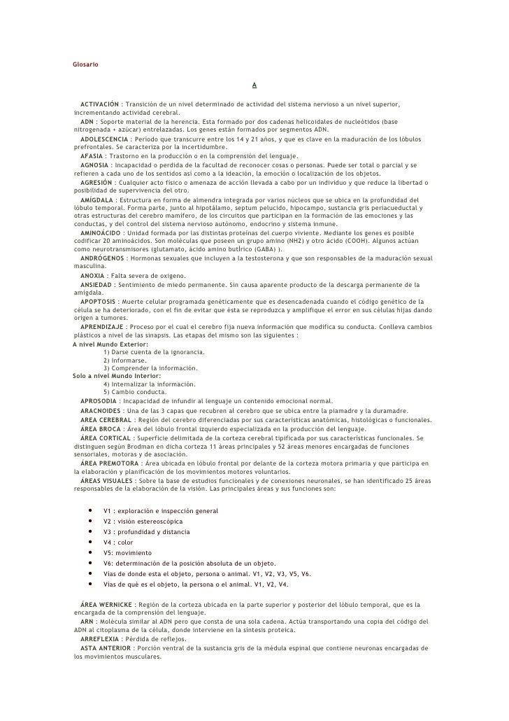 Glosario                                                             A    ACTIVACIÓN : Transición de un nivel determinado ...