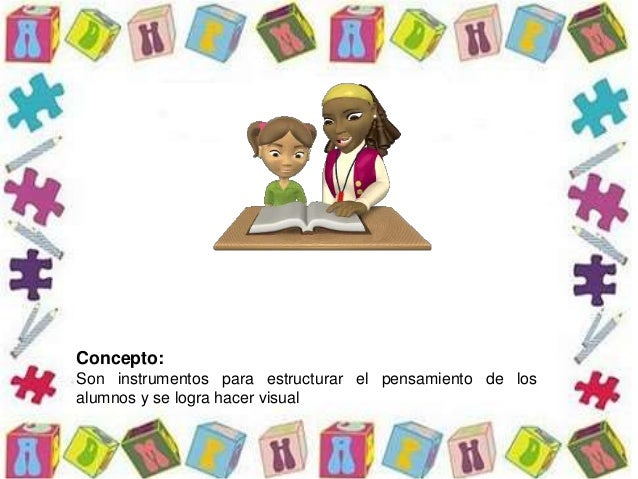 Concepto: Son instrumentos para estructurar el pensamiento de los alumnos y se logra hacer visual
