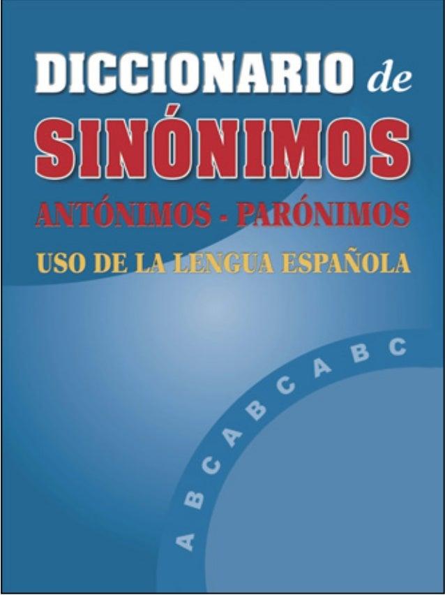 diccionario sinonimos y antonimos pdf descargar