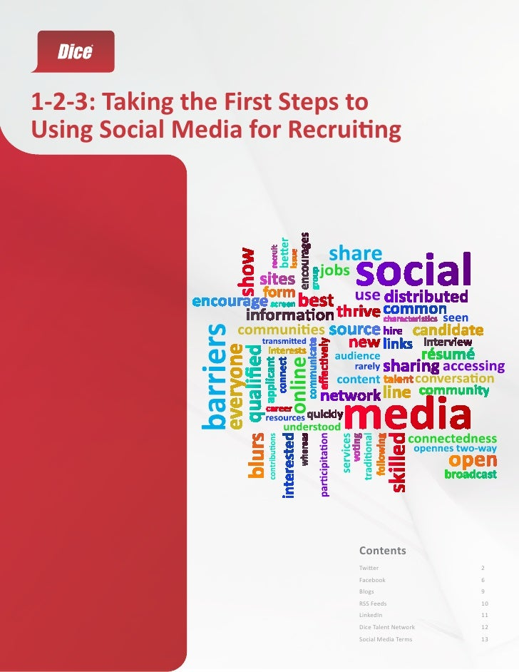 1-2-3: Taking the First Steps toUsing Social Media for Recruiting                             Contents                    ...