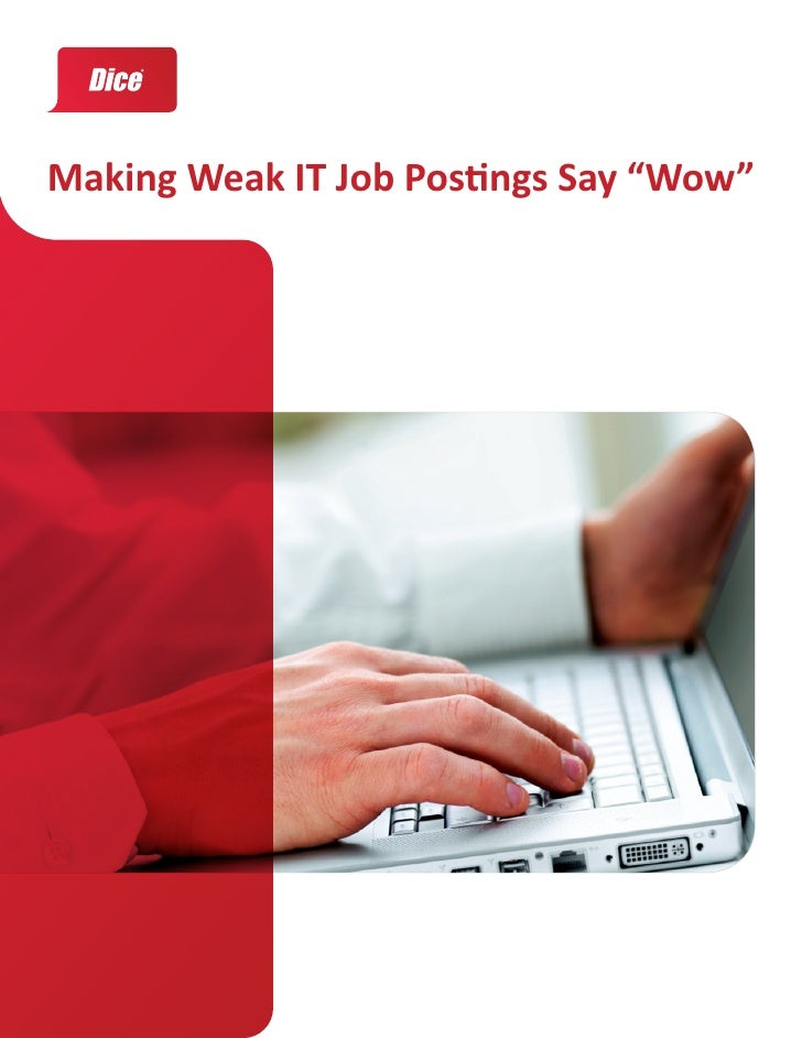 "Making Weak IT Job Postings Say ""Wow"""