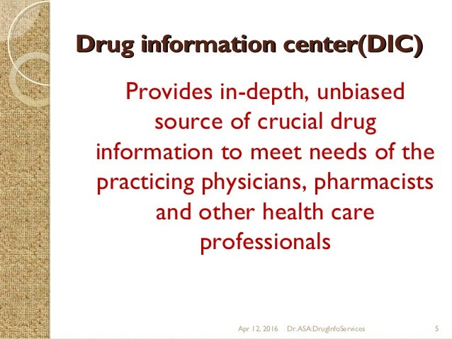 Drug Information Services