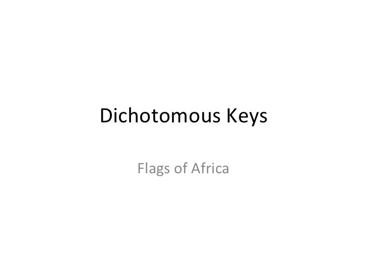 Dichotomous Keys Flags of Africa